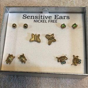 NIB Boxed set of Nickel free earrings.